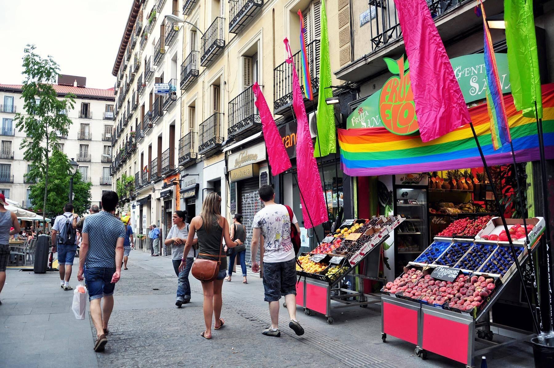 Chueca, o bairro gay de Madrid. Foto: Reprodução