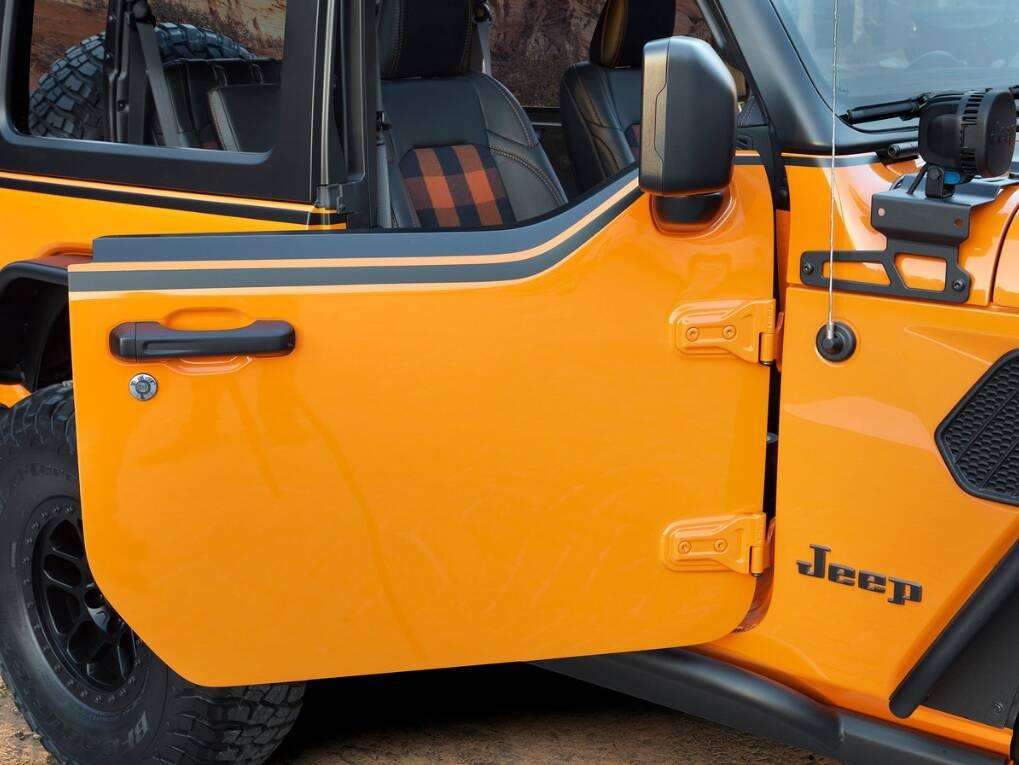 Jeep Wrangler Orange Peelz. Foto: Divulgação