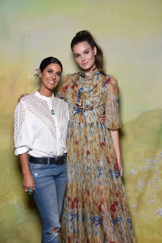 Andrea Conti e Camila Queiroz no lançamento da Vogue Noivas. Foto: Divulgação