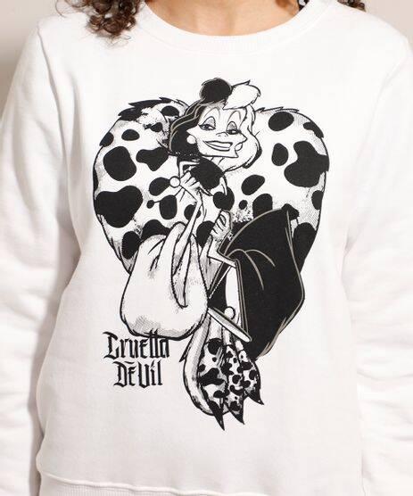 Moletom Cruella Devil, C&A. R$ 53,99.. Foto: Divulgação
