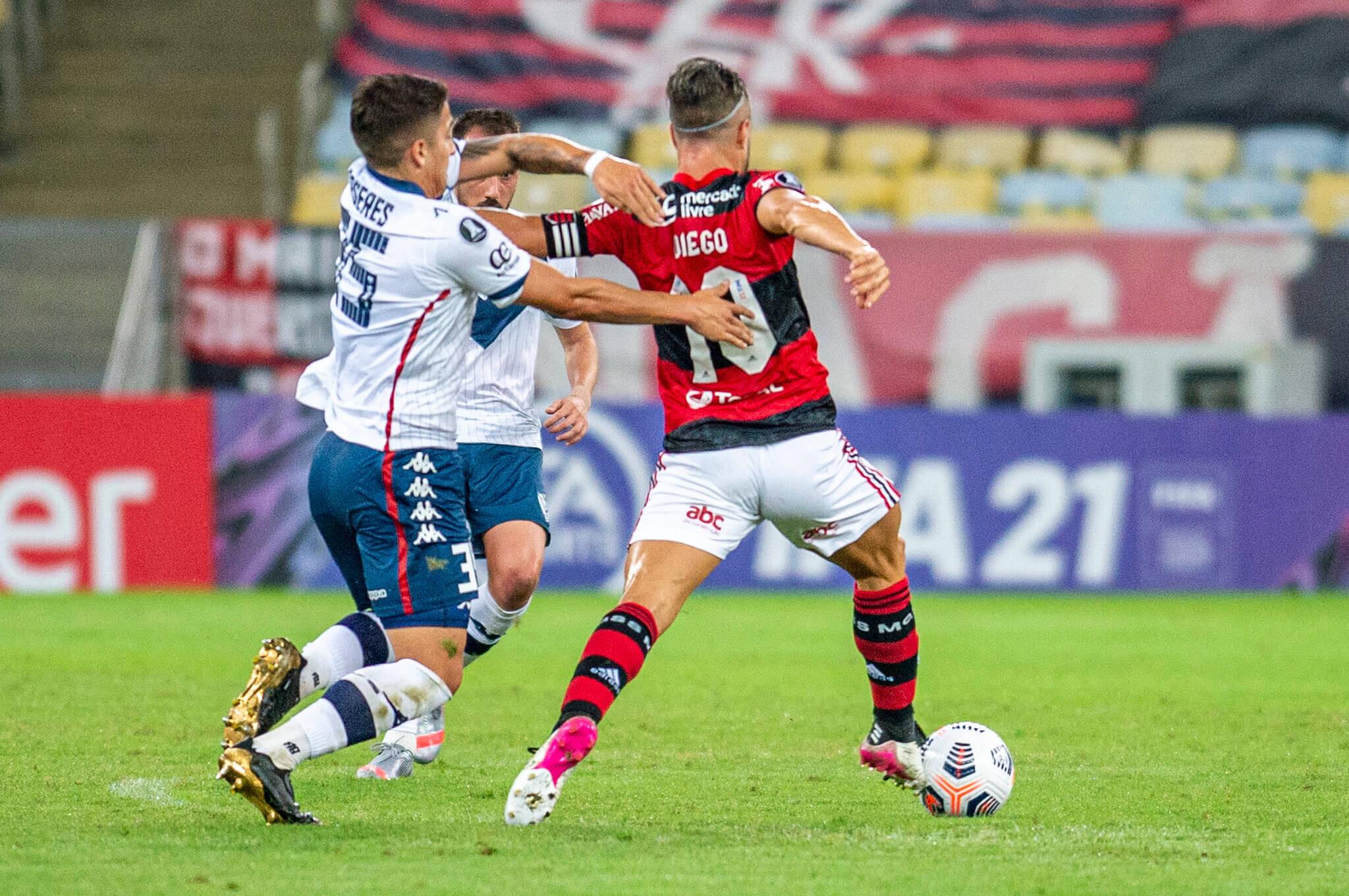 Flamengo x Vélez. Foto: Marcelo Cortes / Flamengo