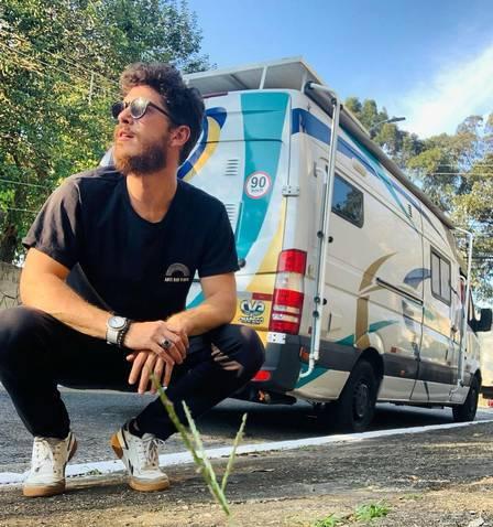 Caio Paduan e Cris Dias viajam de motorhome pelo Brasil. Foto: Reprodução/Instagram