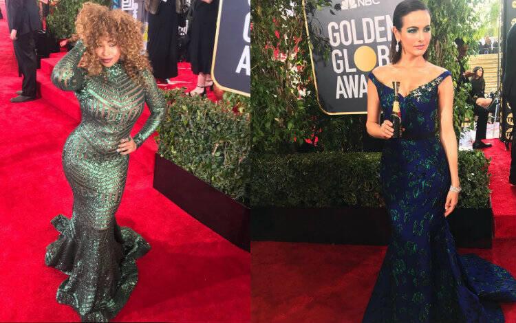 Tanika Ray e Camilla Belle no Globo de Ouro. Foto: Reprodução/Instagram