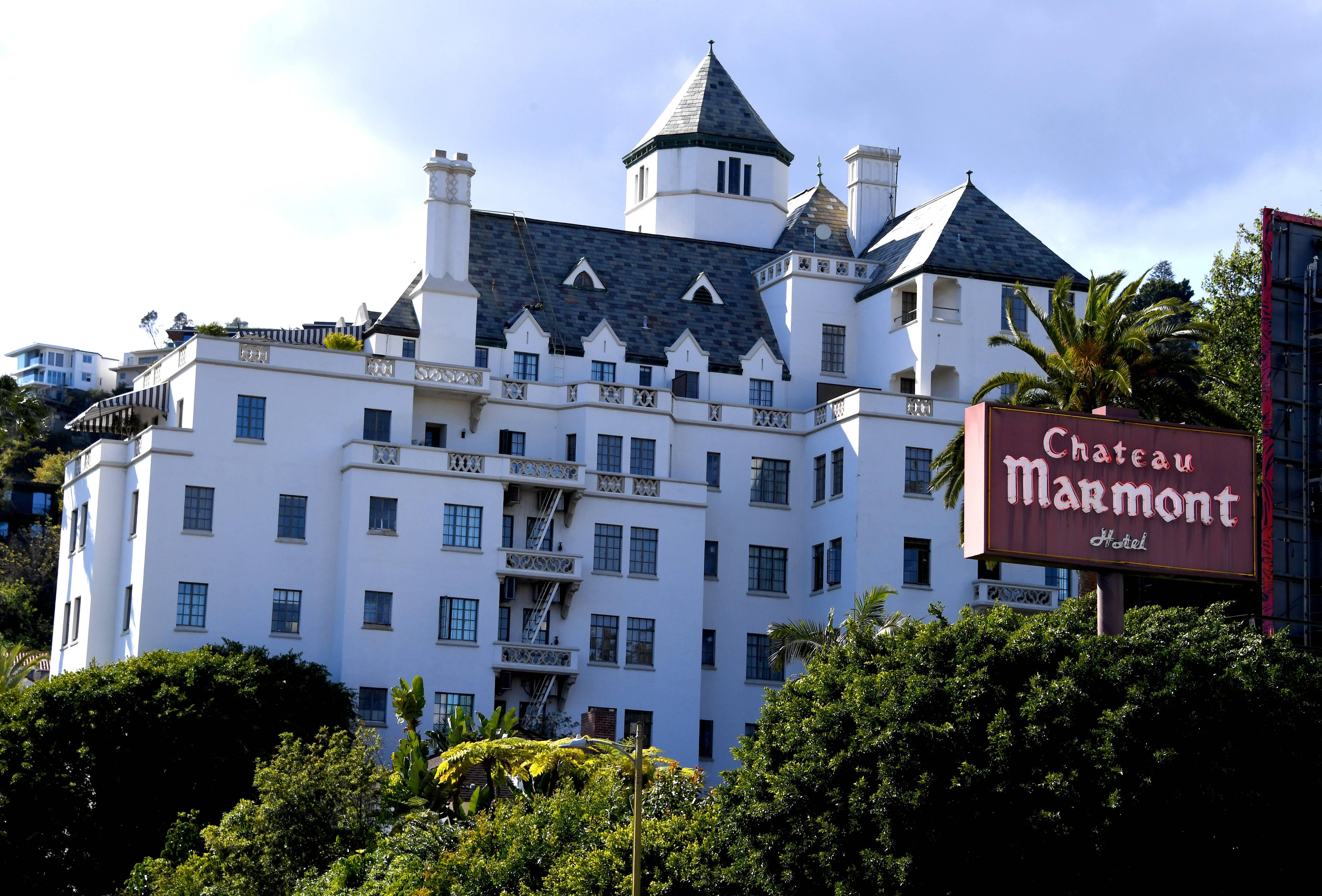 Chateau Marmont, em Los Angeles. Foto: Getty Images