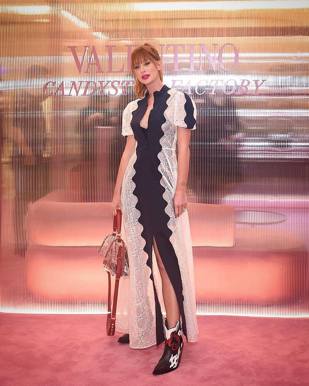 Marina Ruy Barbosa na semana de moda de Paris. Foto: Reprodução/Instagram
