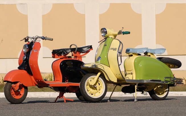 Nota-se as evoluções entre a Lambretta de 1958 e a de 1960. Foto: Acervo Pessoal / Gabriel Marazzi