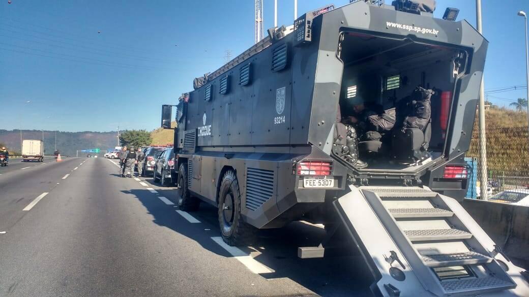 Batalhão de Choque atuou para evitar que a greve de caminhoneiros virasse uma crise ainda maior. Foto: Divulgação/Choque