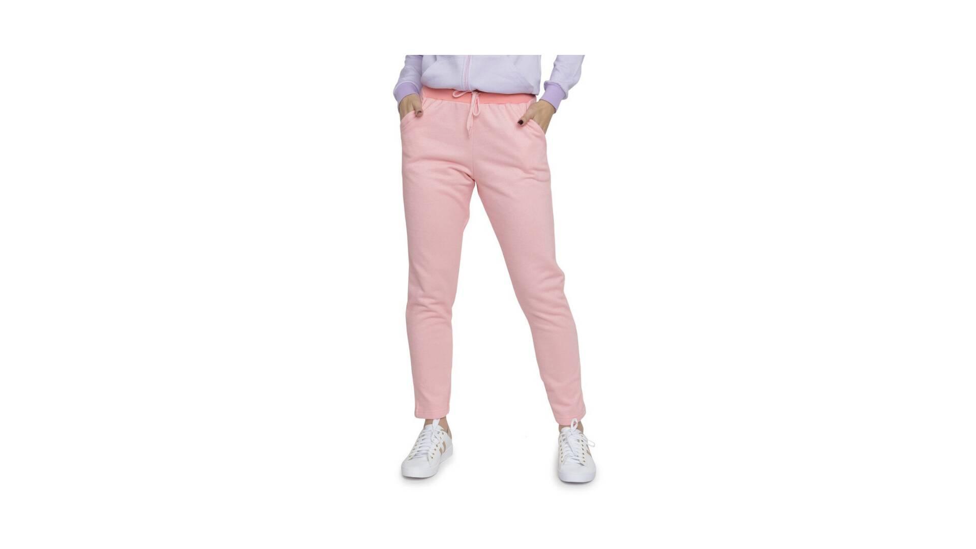 Calça de moletom rosé, com tamanhos do P ao GG, R$ 49,99. Foto: Divulgação