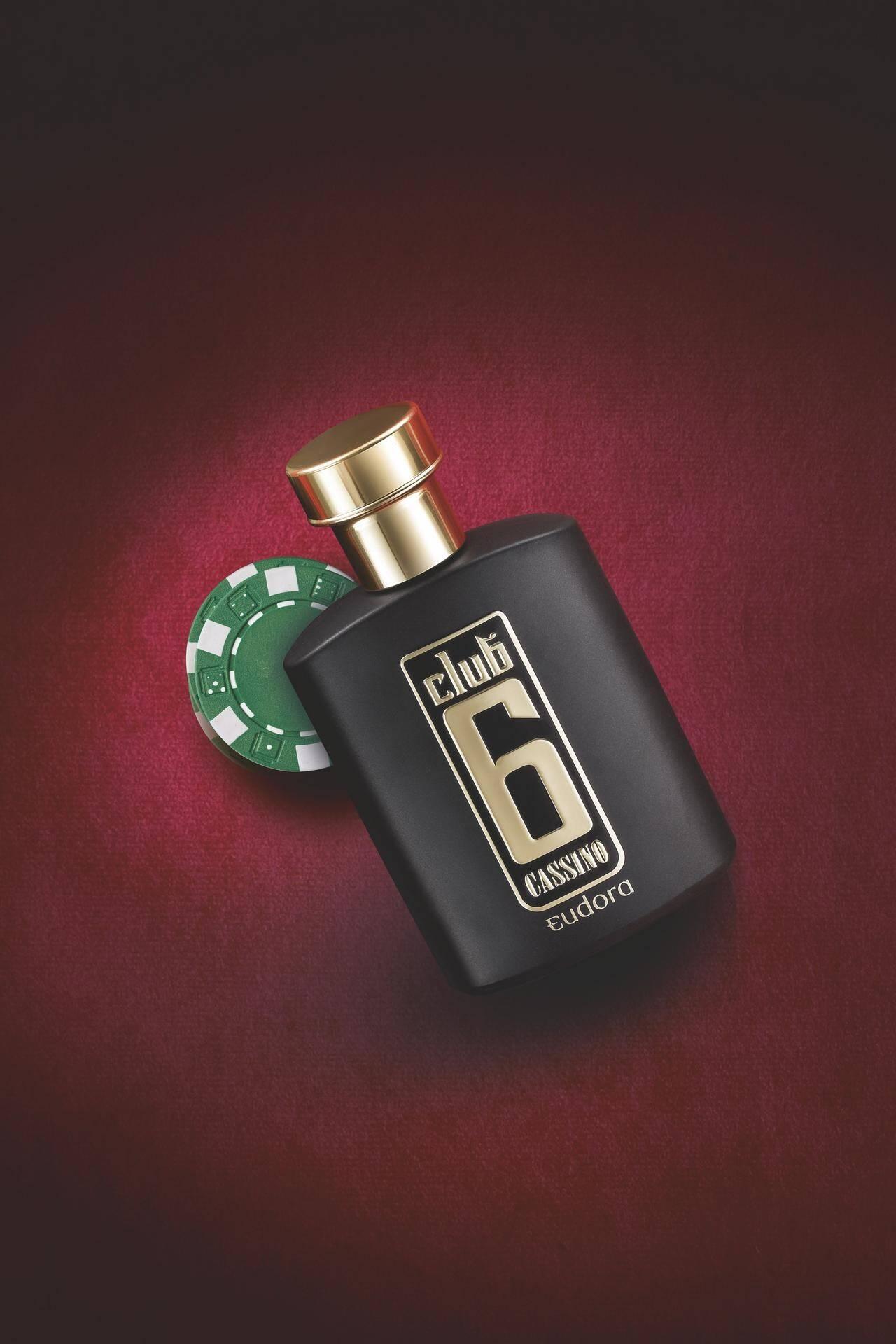 Colônia Desodorante Club 6 Cassino, de Eudora (R$89,90). Foto: Divulgação