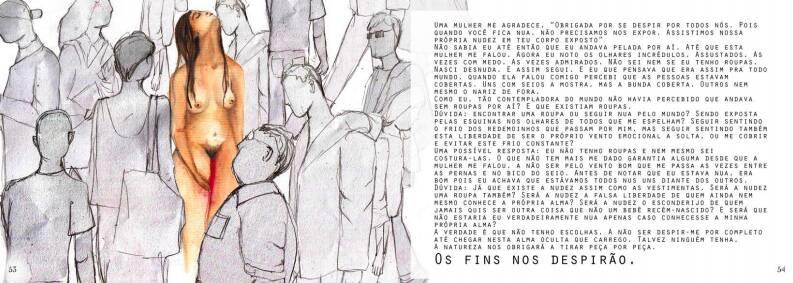 Arte feminista de Andréa Tolaini traz intimidades do universo feminino. Foto: Divulgação/Andréa Tolaini