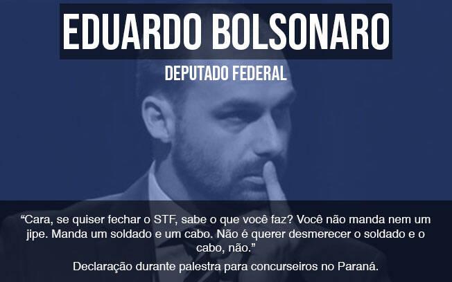 6 vezes em que nomes ligados a Bolsonaro fizeram referência à ditadura. Foto: Roberto Casimiro/Fotoarena/Agência O Globo
