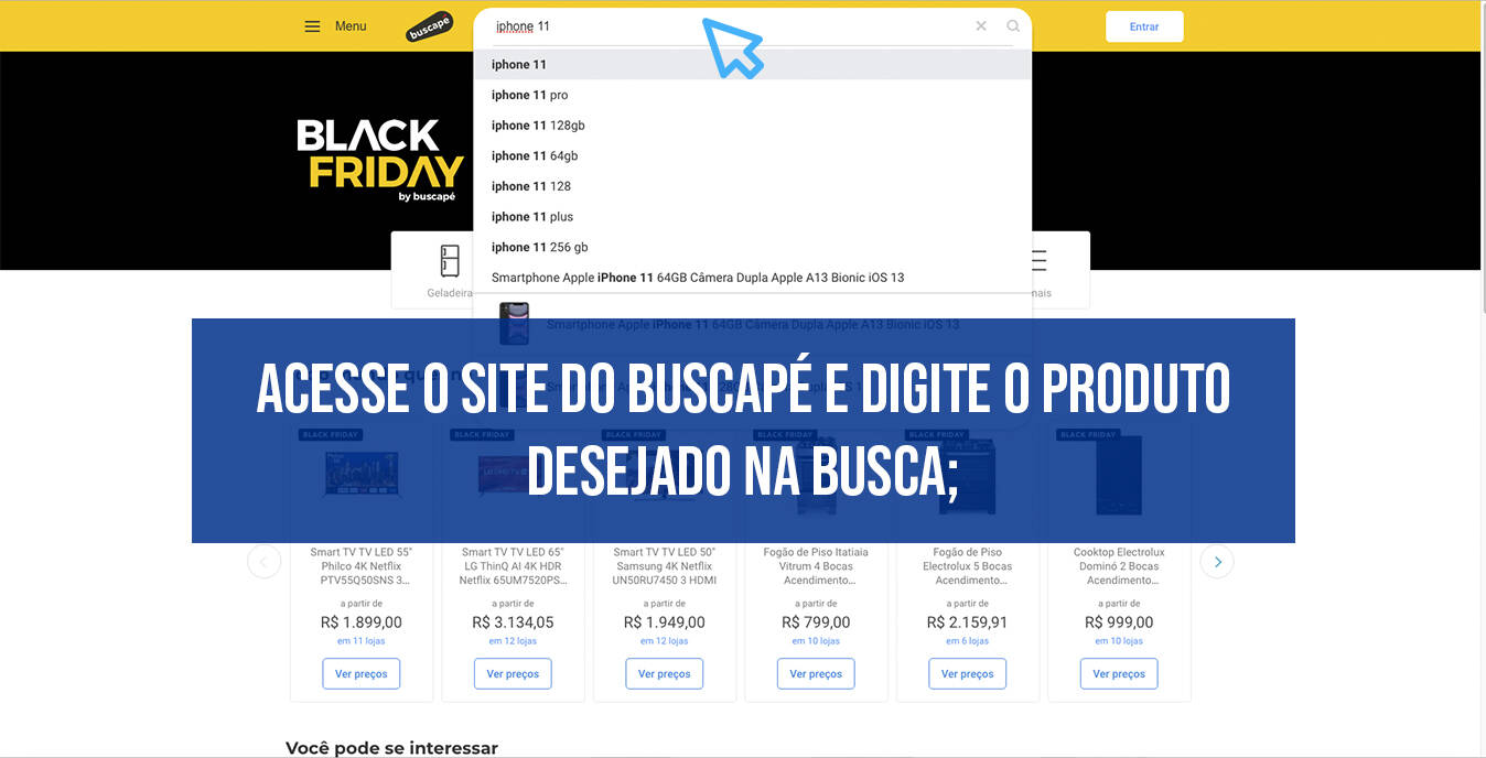 Passo a passo Buscapé Black Friday. Foto: iG/Webdesigner
