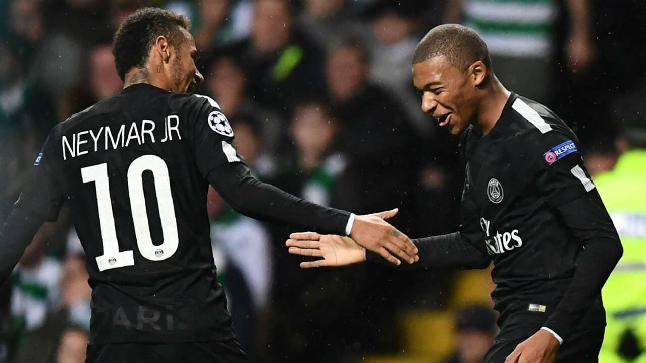 Neymar e Mbappé, companheiros de PSG, podem se transferir para o Real. Foto: Getty Images