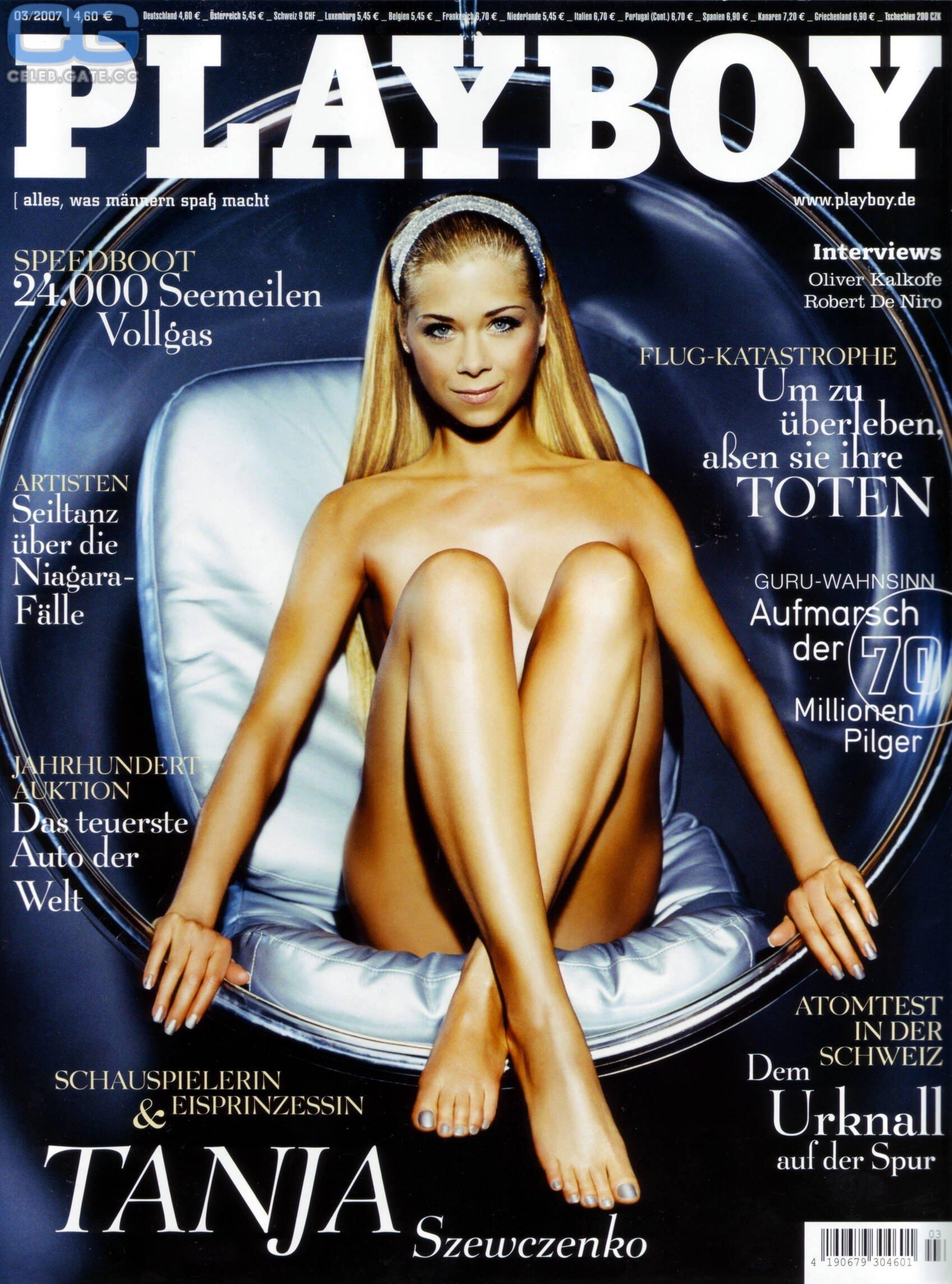 Capa da Playboy - Tanja Szewczenko, patinadora alemã. Foto: Divulgação / Revista Playboy