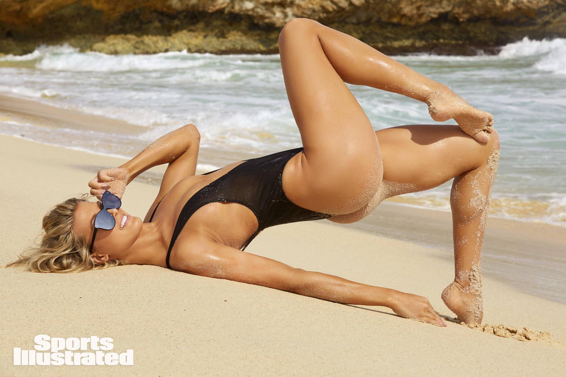 Ensaio da tenista canadense Genie Bouchard para revista Sports Illustrated Swimsuit . Foto: Sports Illustrated