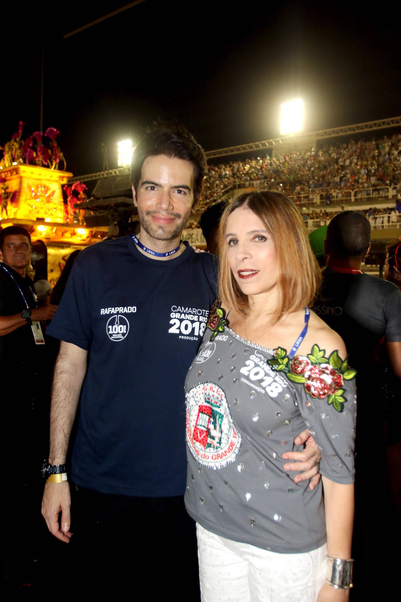 Luiz Fernando Coutinho e Liege Monteiro no Camarote Grande Rio na última segunda-feira (12), no Rio. Foto: eny miranda