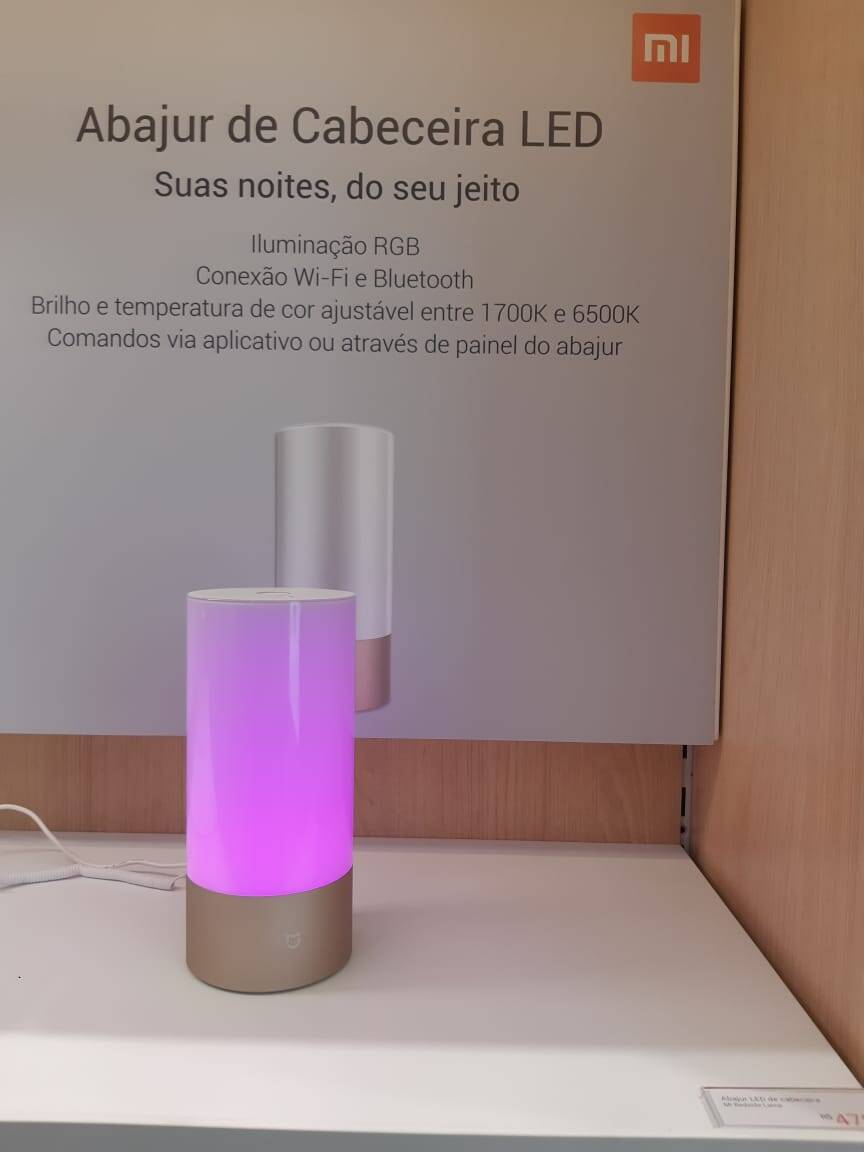 Abajur de LED Xiaomi. Foto: Marina Teodoro/iG Tecnologia