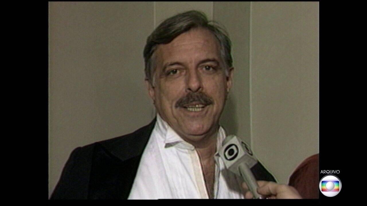 Ator Oswaldo Loureiro morreu aos 85 anos, no dia 03 de fevereiro, em São Paulo, após uma parada cardíaca. Foto: Reprodução/ Globo