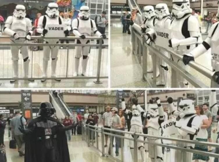 E que tal receber um viajante ao estilo Star Wars?. Foto: Reprodução/Internet