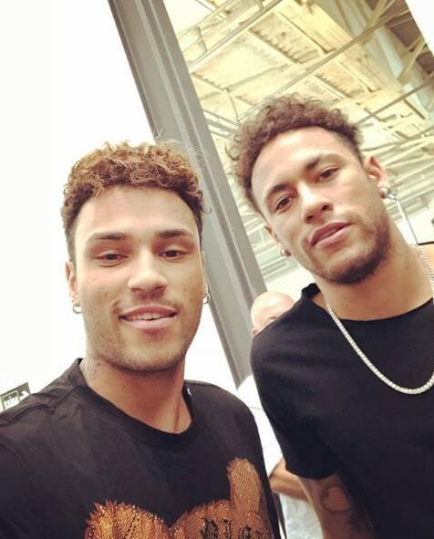 Gabriel Lucas e Neymar. Foto: Reprodução/ Instagram