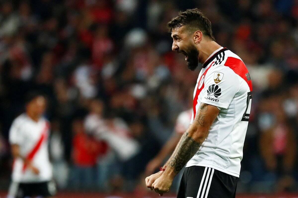 Lucas Pratto marcou o gol do River Plate sobre o Boca Juniors na final da Libertadores. Foto: Twitter/Reprodução