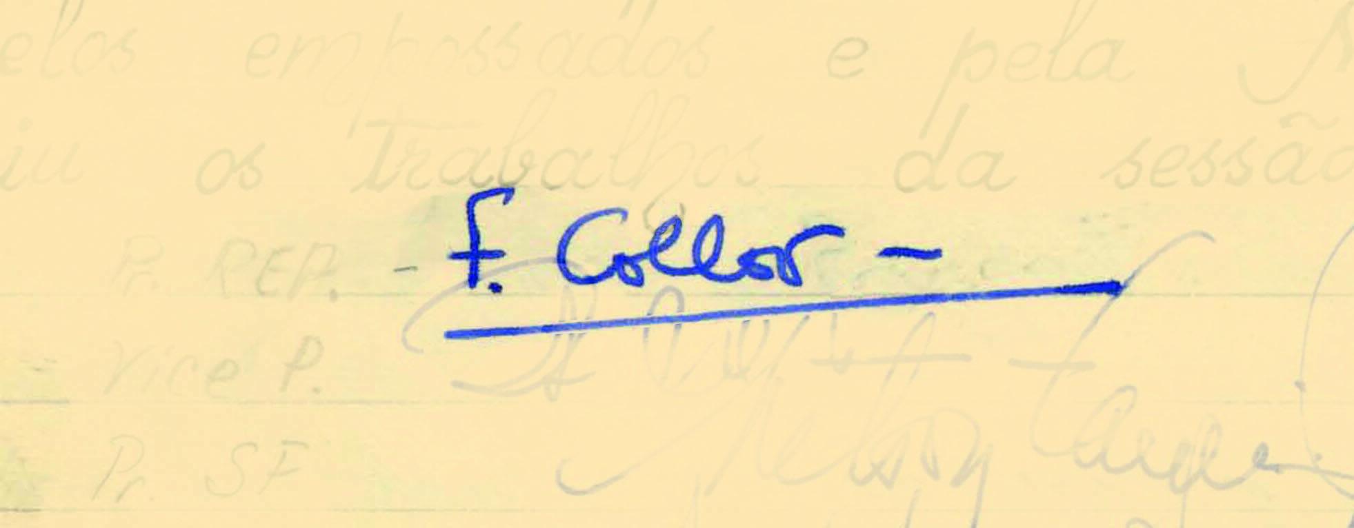 Fernando Collor, primeiro presidente eleito diretamente desde 1960, foi empossado em 1990. Foto: Reprodução / Senado Federal