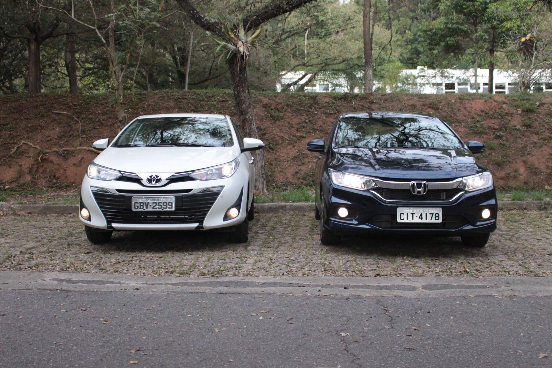 Toyota Yaris x Honda City. Foto: Cauê Lira/iG Carros