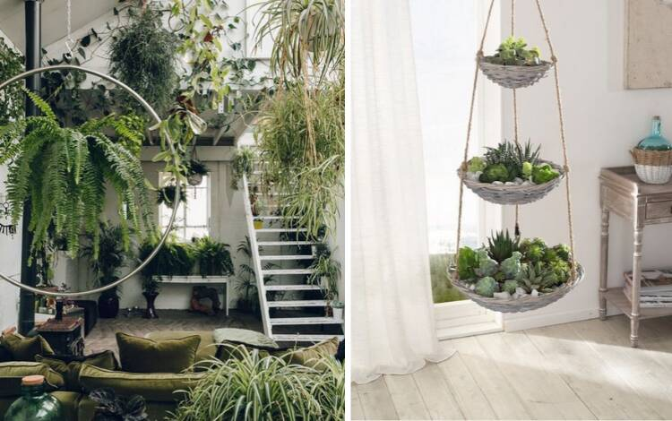 Jardim interno   Entre em contato com a natureza no seu próprio jardim secreto. Foto: Reprodução/Pinterest