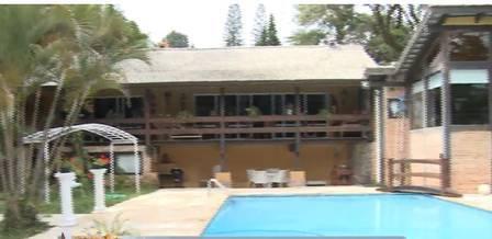 Casa de Sérgio Reis que foi alvo de operação da PF. Foto: Record TV