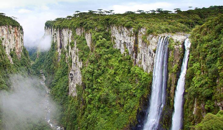 O Cânion Intambezinho está dentro do Parque Nacional de Aparados da Serra. Foto: Reprodução