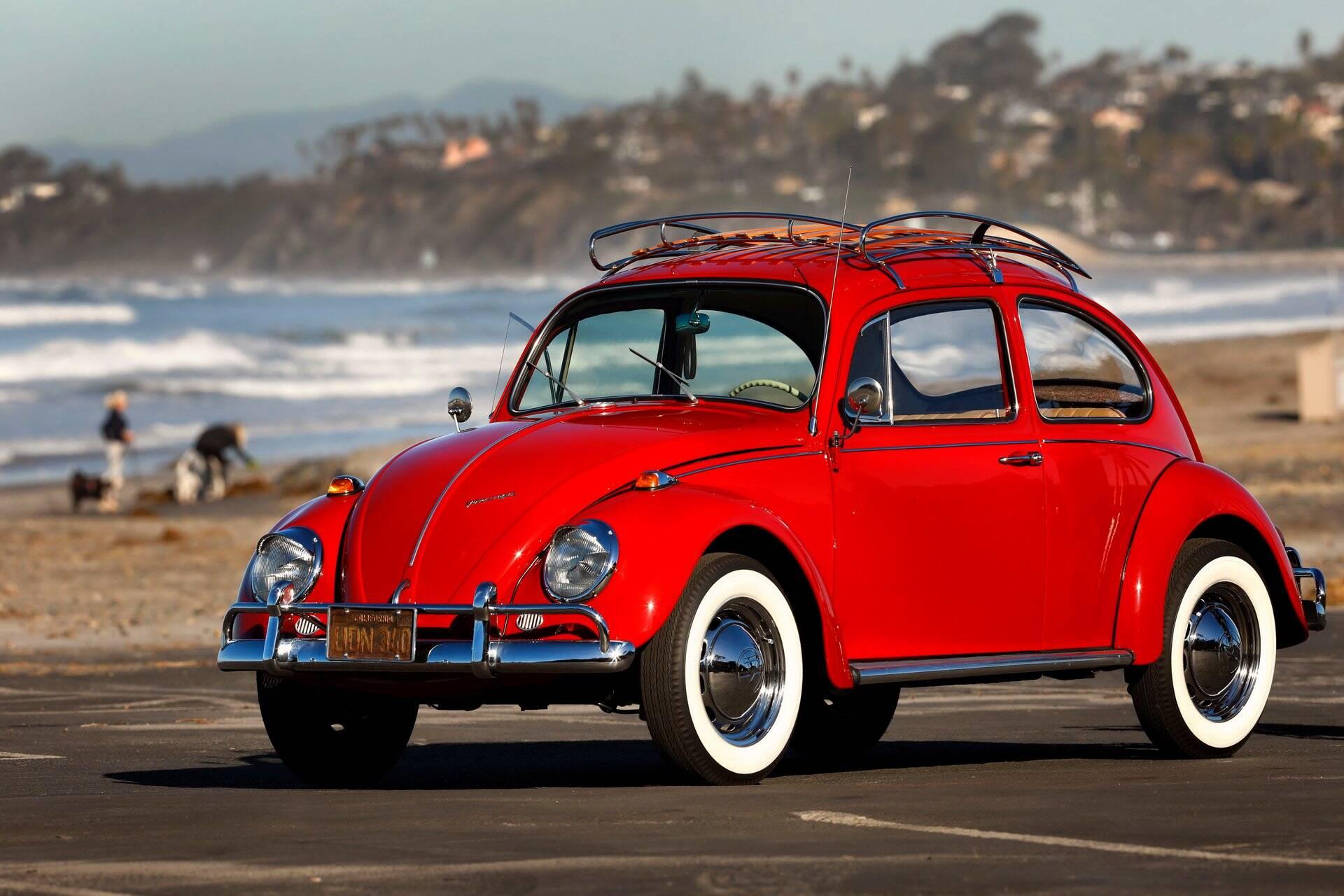 VW Fusca restaurado pela fábrica da marca alemã no México. Foto: Divulgação