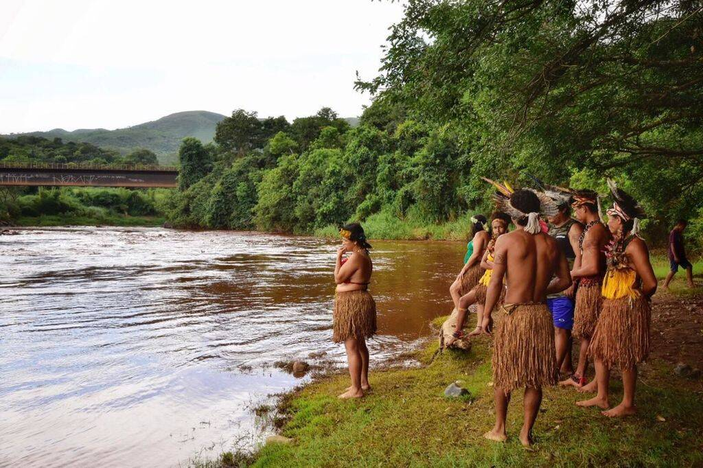 Indígenas Pataxó Hã-hã-hãe vivem na aldeia Naõ Xohã, às margens do rio Paraopeba. Foto: Lucas Hallel Ascom/Funai