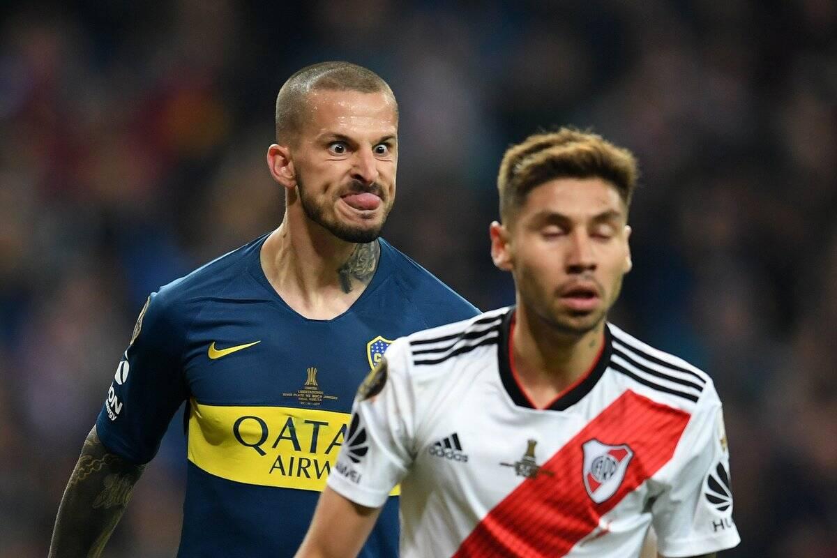 Benedetto celebra gol do Boca Juniors contra o River Plate na final da Libertadores. Foto: Twitter/Reprodução