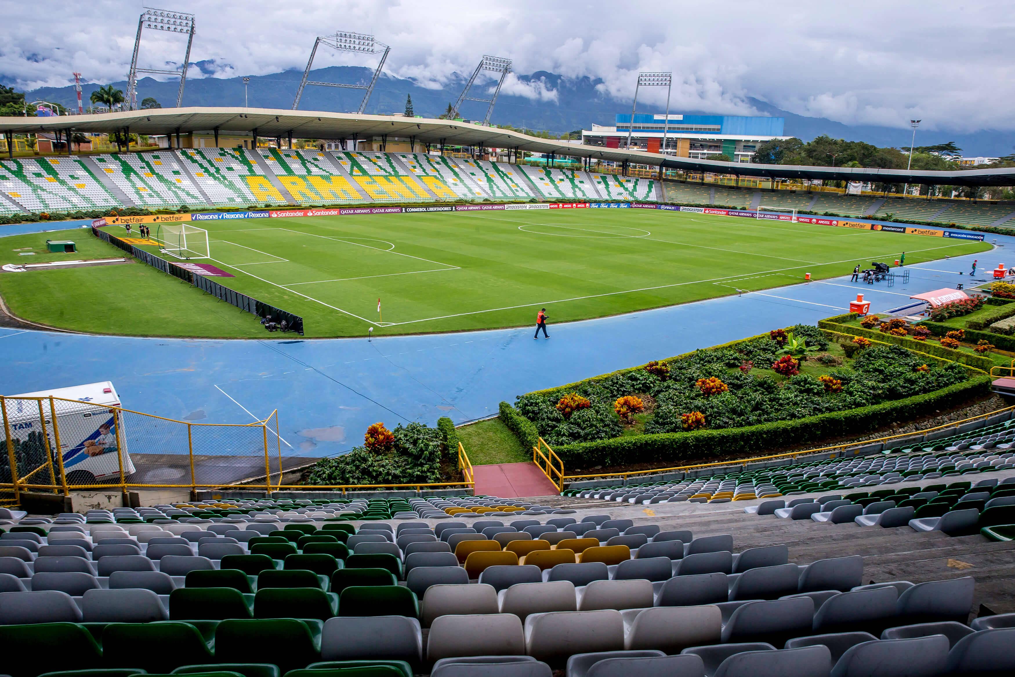 Santa Fe x Fluminense. Foto: Reprodução / Twitter Conmebol