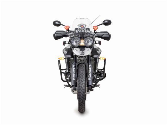 A montadora inglesa já entregou o primeiro lote de motos que já estão patrulhando as ruas de São Paulo. Foto: Divulgação