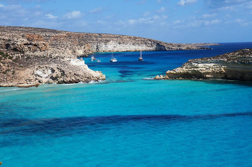A Isola dei Conigli está localizada na costa sul da Sicília. Foto: Meu Mapa Mundi