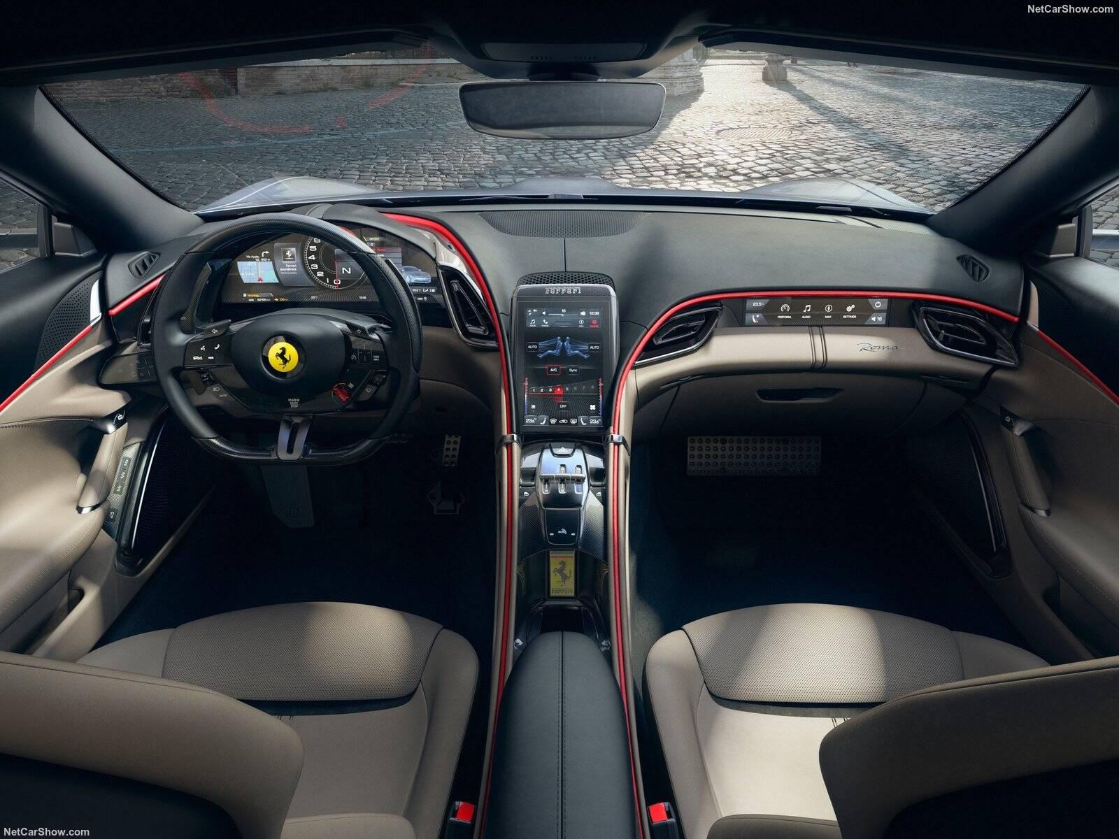 Ferrari Roma. Foto: Divulgação