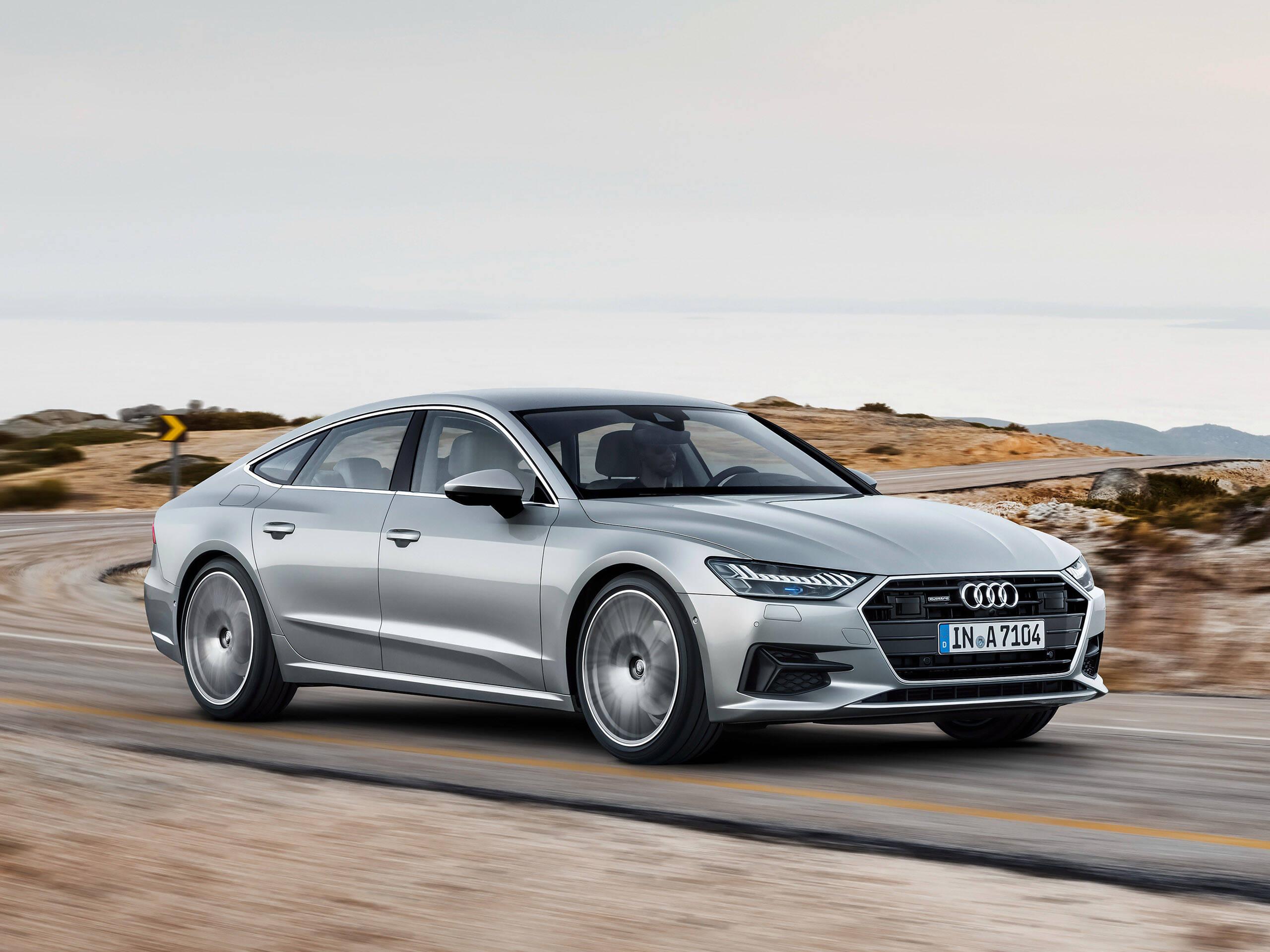 Audi A7 Sportback: nova geração passa a ficar bem mais leve e sofisticada, o que inclui sistema semi-autônomo. Foto: Divulgação