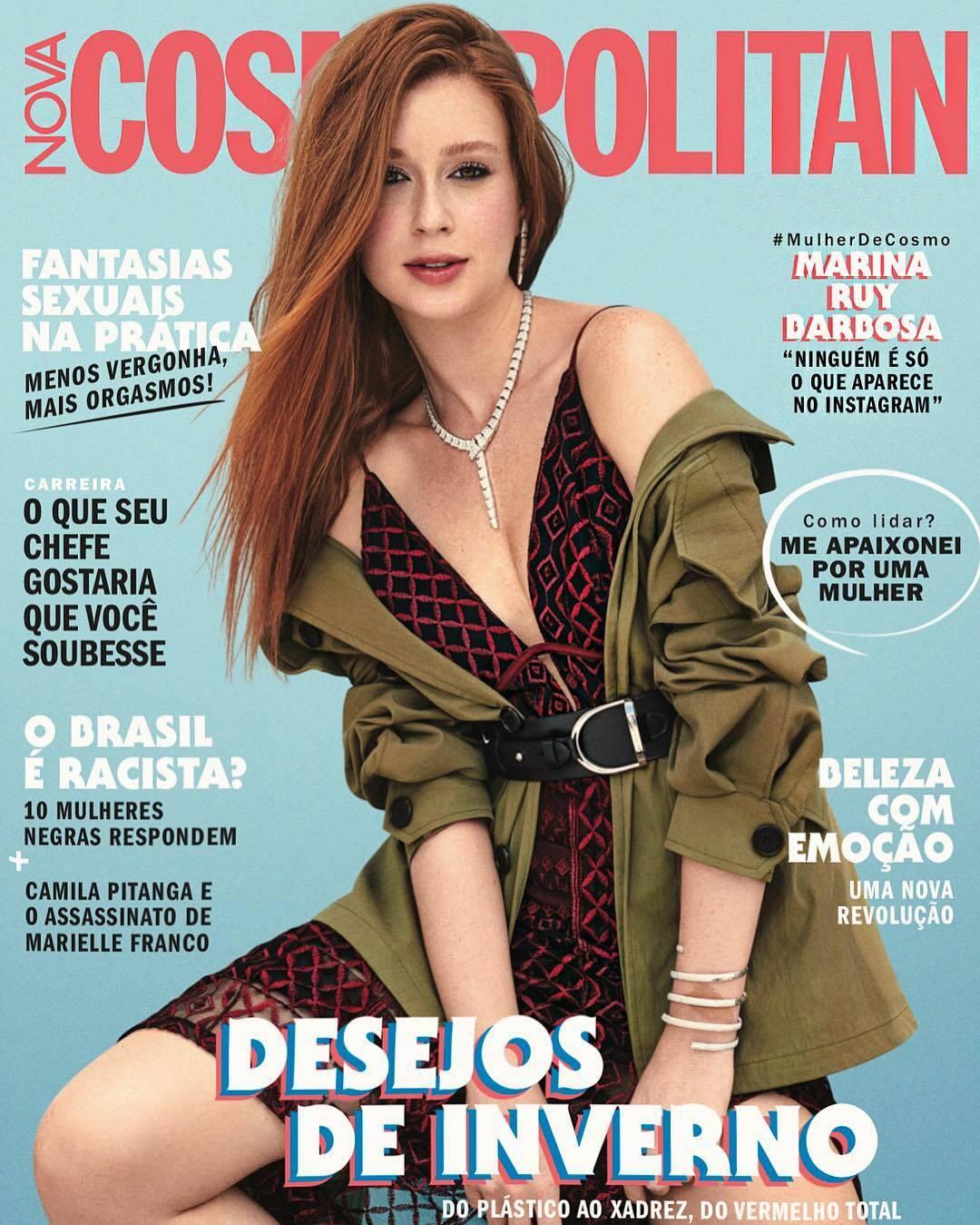 Marina Ruy Barbosa foi capa da revista Cosmopolitan. Foto: Reprodução/Instagram