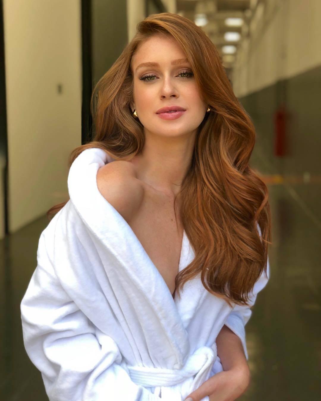 Marina Ruy Barbosa estrelando uma campanha de produtos de beleza, mostrando seus lindos cabelos ruivos!. Foto: Reprodução/Instagram