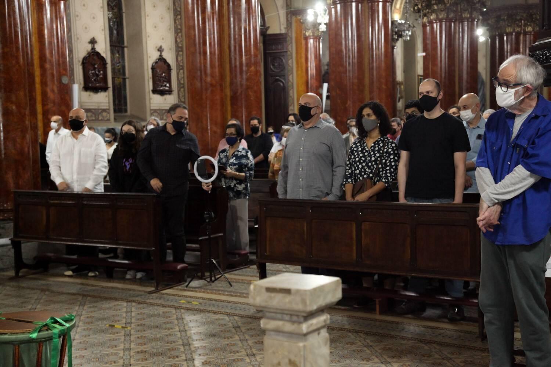 Homenagem a Sérgio Mamberti na Igreja Santa CecíliaMarcos Ribas/Brazil News. Foto: Marcos Ribas/Brazil News