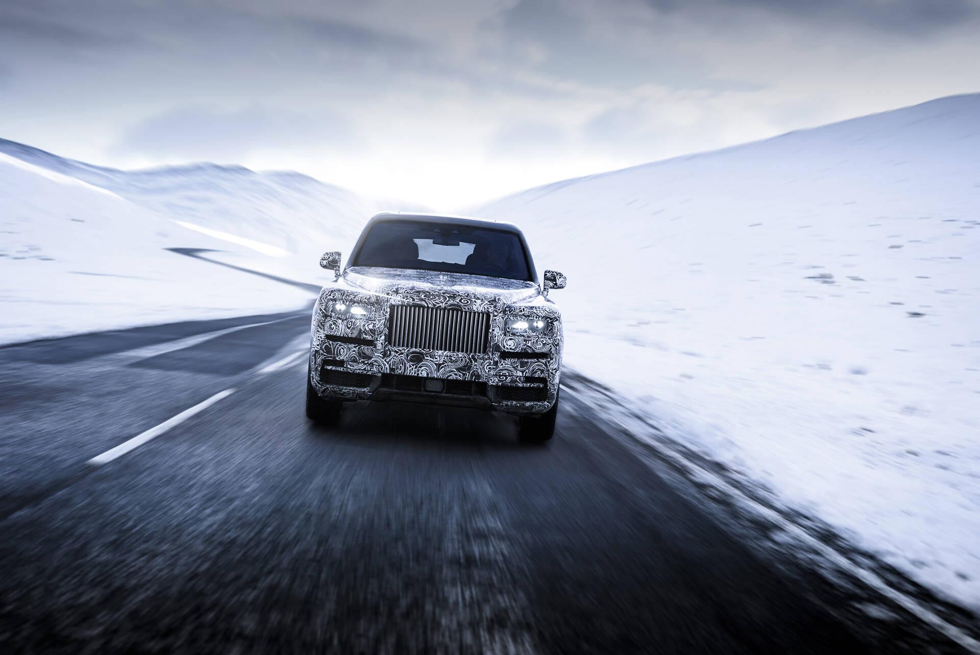 Rolls Royce Cullinan. Foto: Divulgação