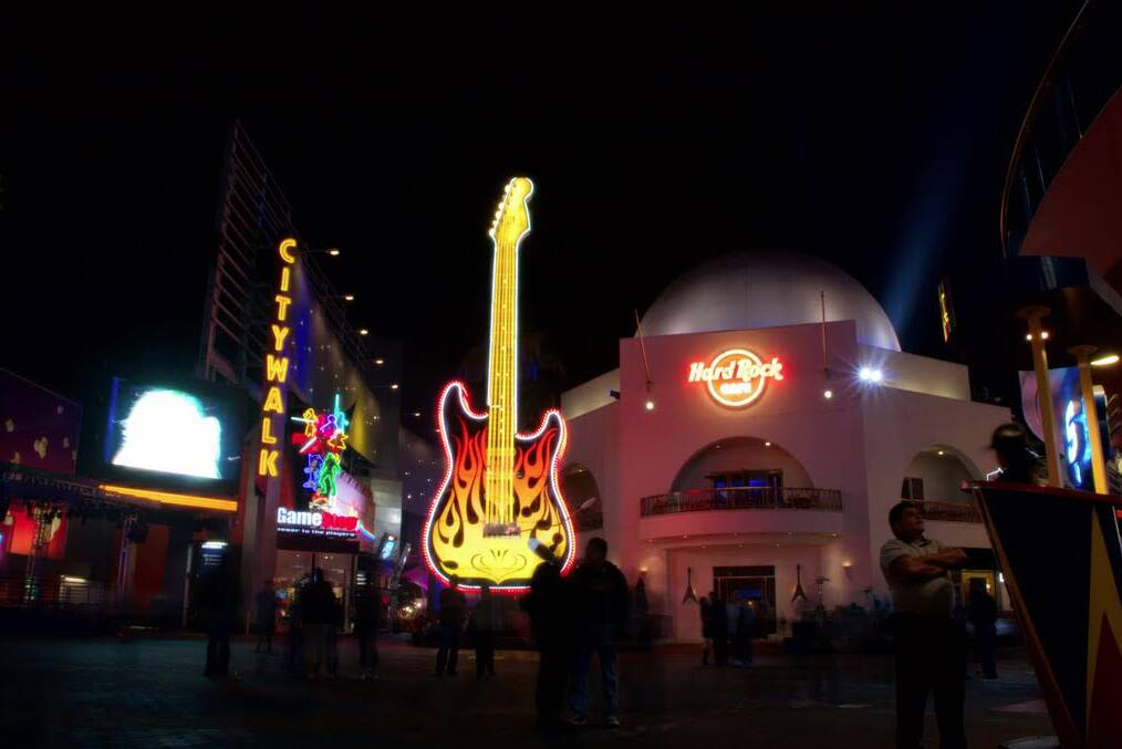 A CityWalk da Universal também é sinônimo de coisas para fazer em Orlando, como uma visita ao icônico Hard Rock Cafe. Foto: Christian Haugen/www.flickr.com/photos/ christianhaugen