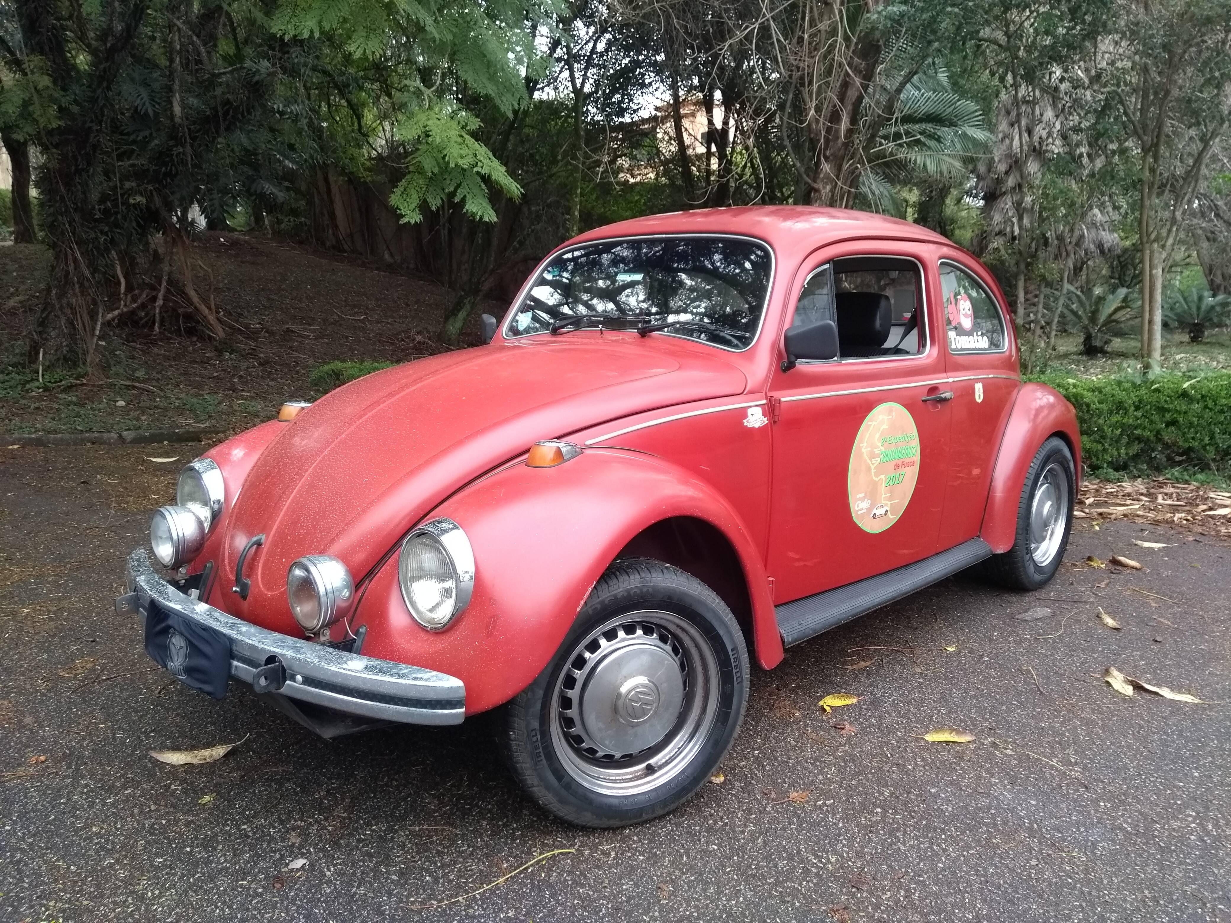 Este VW Fusca começou em Curitiba (PR), saindo de Osasco (SP), e cruzou vários Estados por duas vezes. Foto: Renato Bellote/iG
