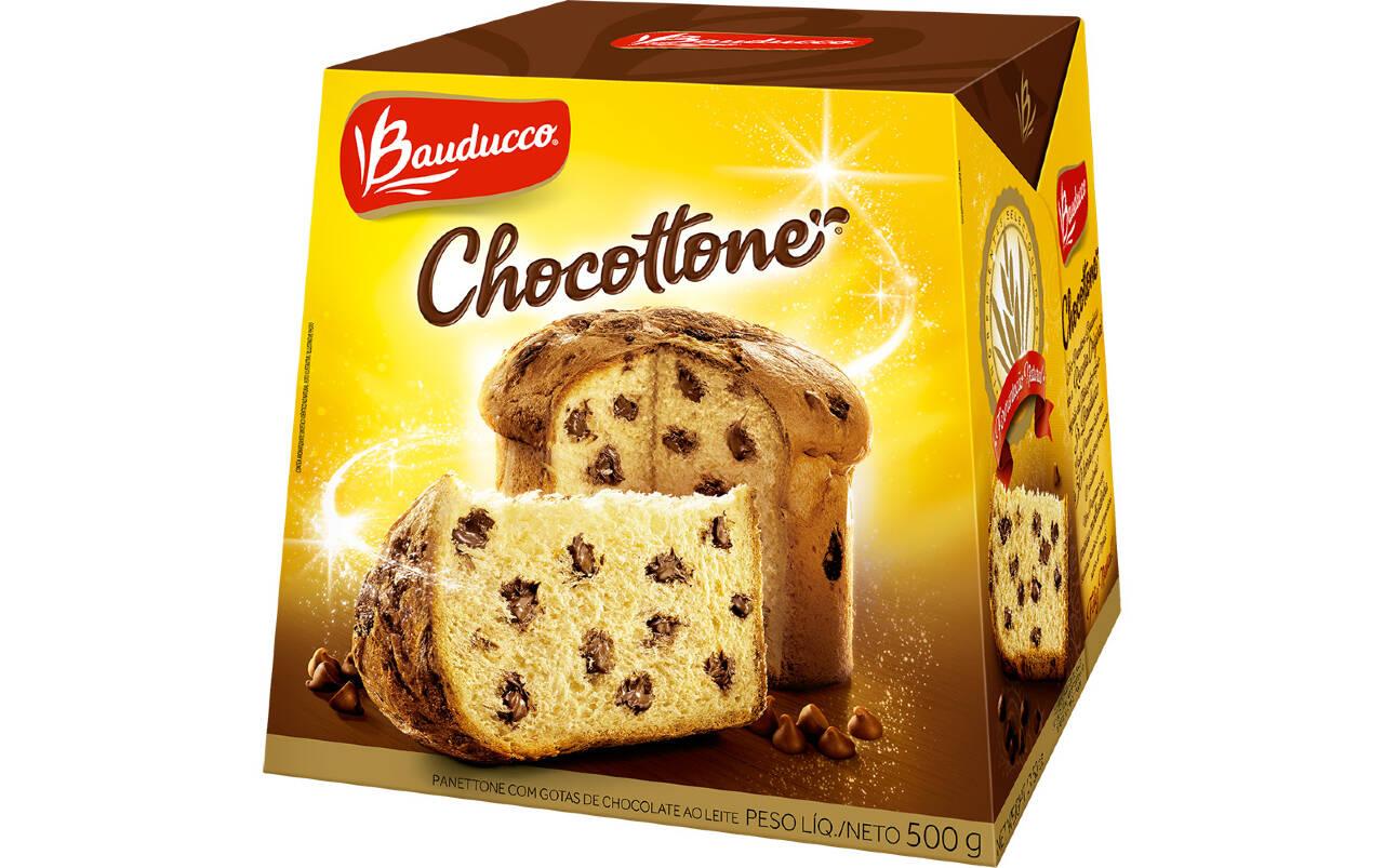 Chocotonne clássico Bauducco 500g (R$ 16,99). Foto: Divulgação