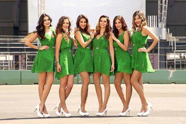 Grid girls embelezaram o GP do México de Fórmula 1. Foto: Hector Ortiz/Reprodução