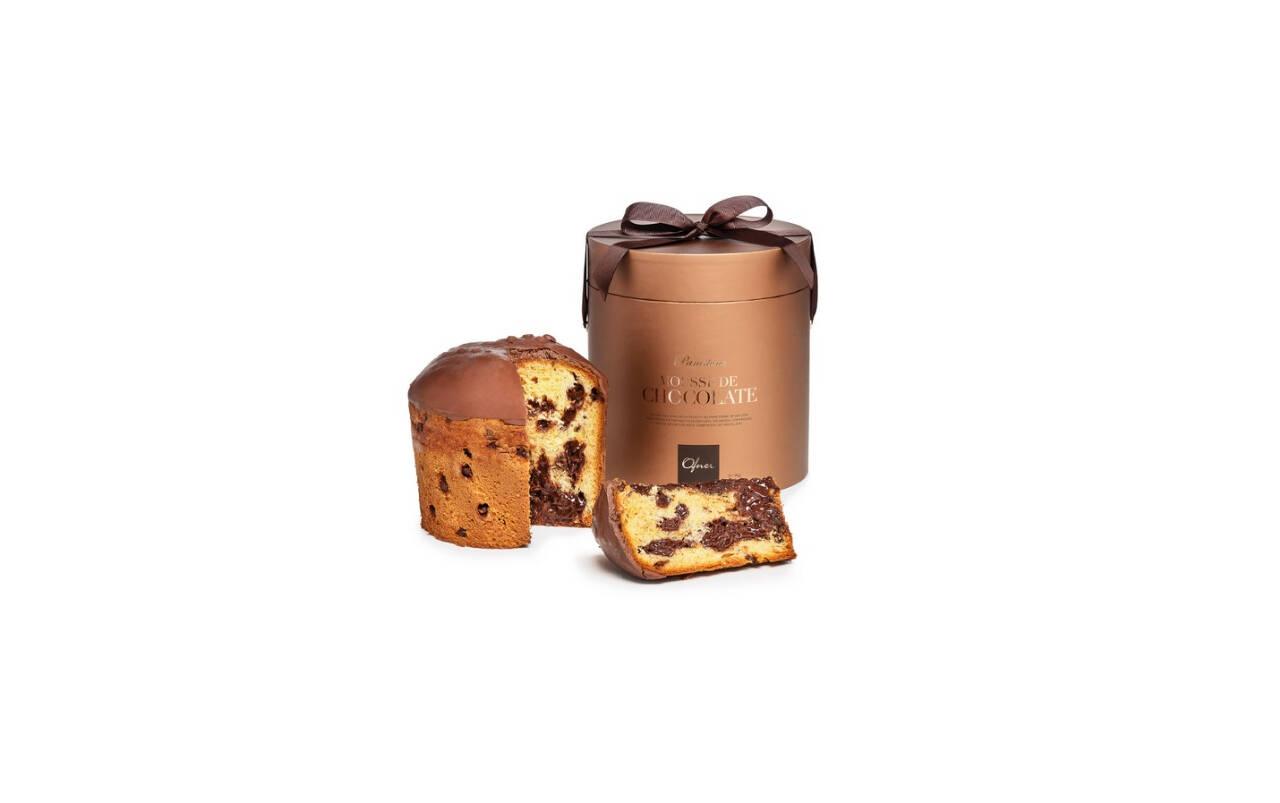 Panettone mousse de chocolate Ofner 1 kg (R$ 95). Foto: Divulgação