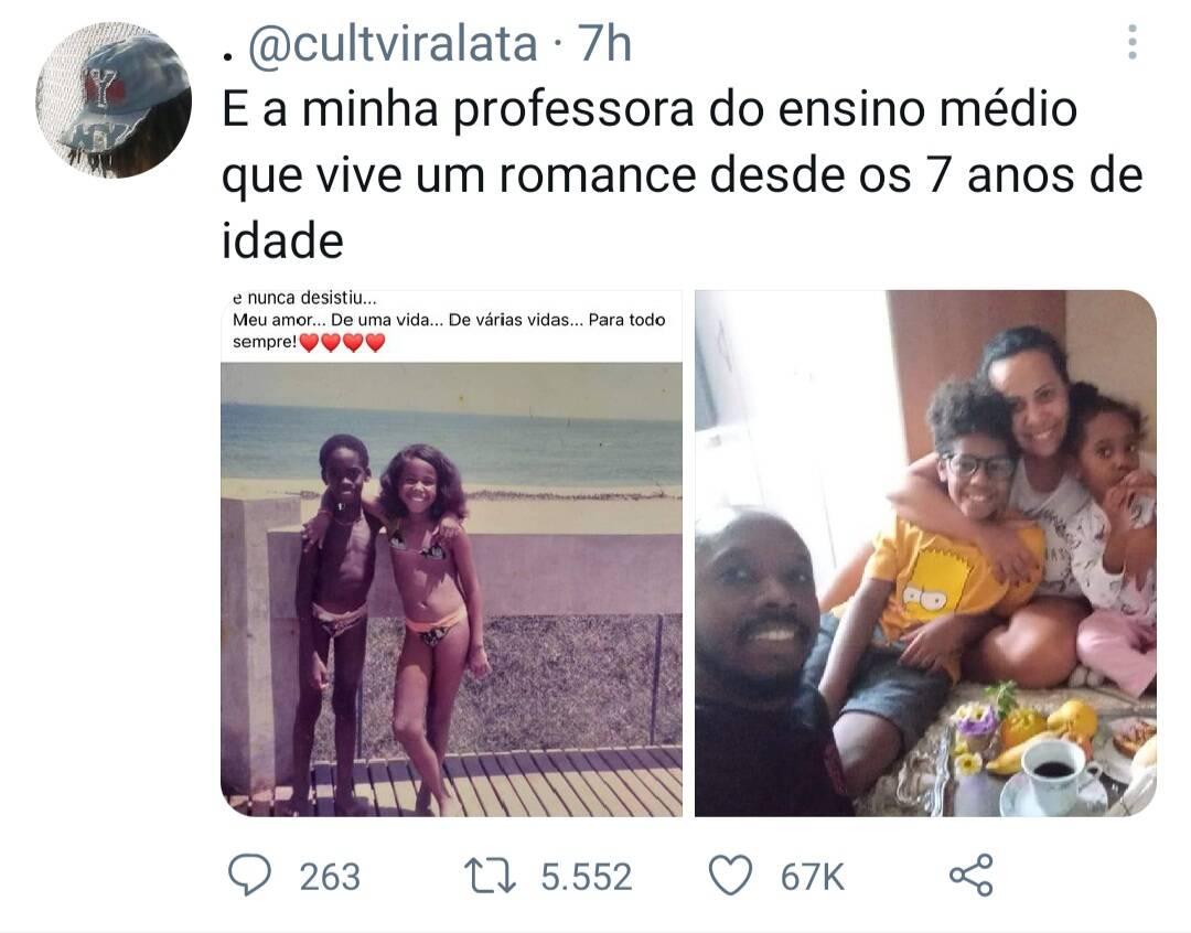 Renan, que é ex-aluno de Adriana, fez a história viralizar no Twitter. Foto: Reprodução/Twitter