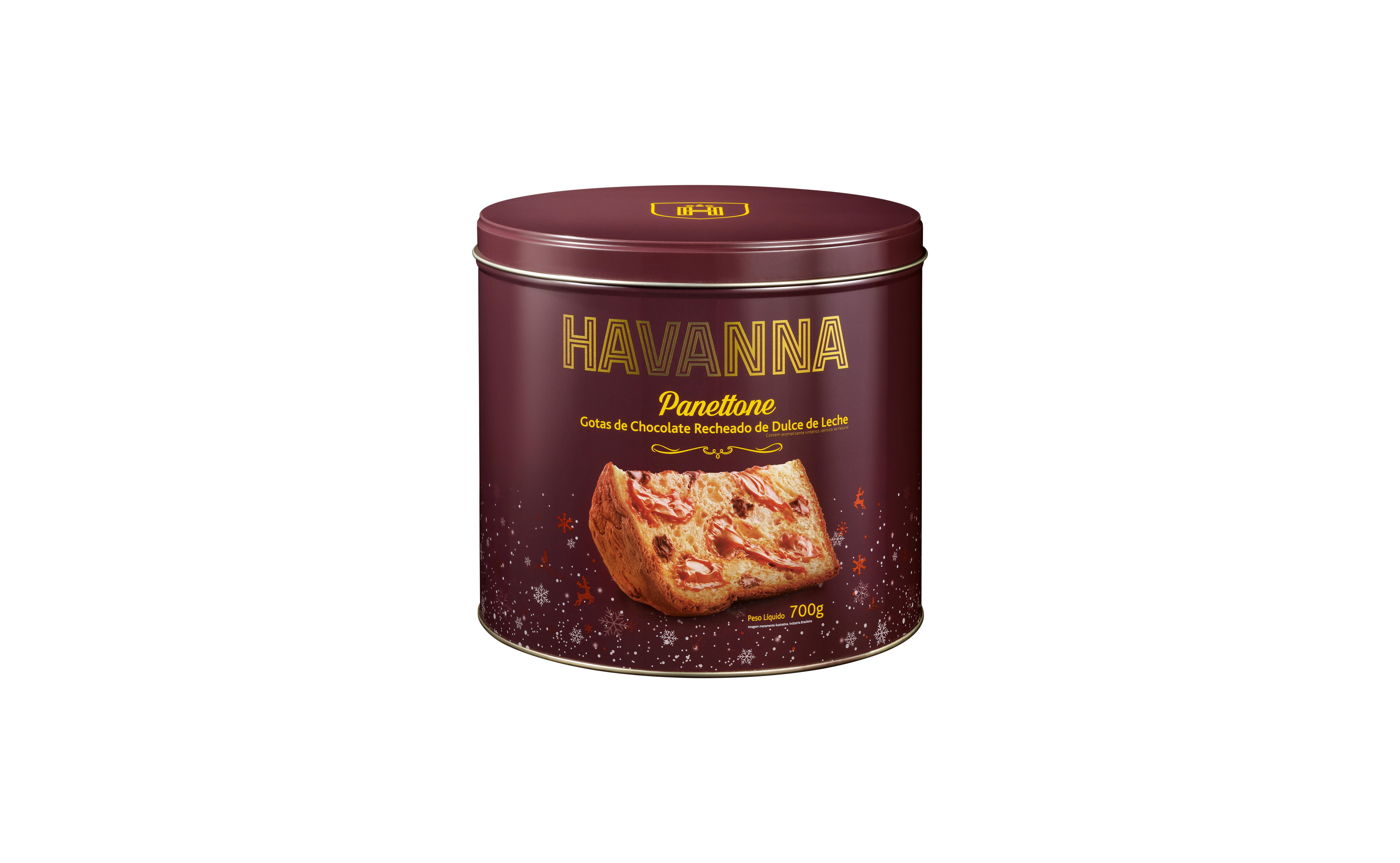 Panettone com gotas de chocolate e o tradicional Dulce de Leche Havanna – 700g (R$79,90). Foto: Divulgação