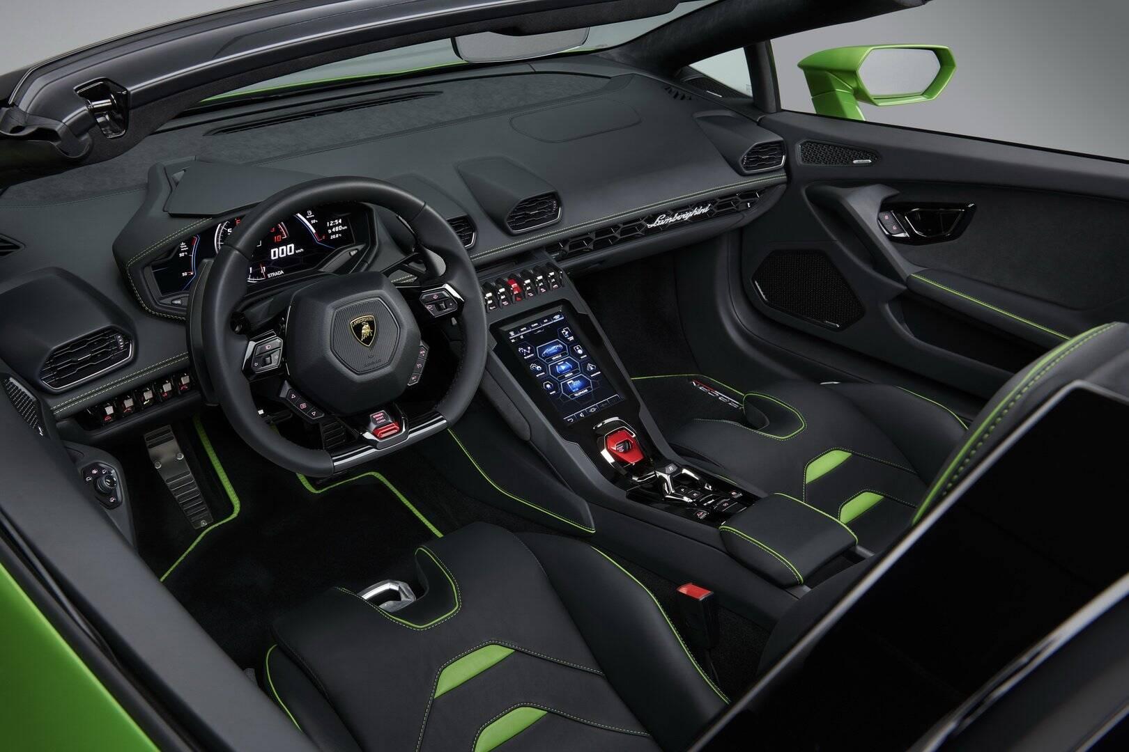 Lamborghini Huracan Evo Spyder. Foto: Divulgação